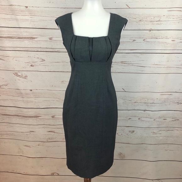 Calvin Klein Dresses & Skirts - Calvin Klein Grey Pleated Career Sheath Dress